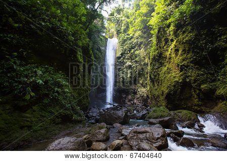 Waterfall Casaroro In Dumaguete, Philippines.