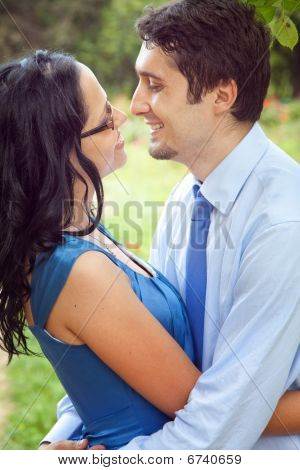 Joyful Couple Sharing A Romantic Intimate Moment