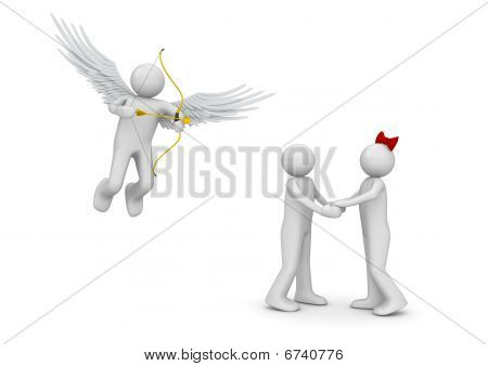 Cupid and couple