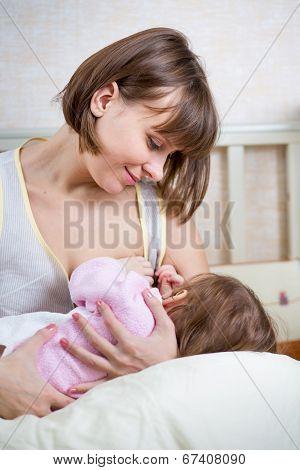 Mother Breast Feeding Her Kid