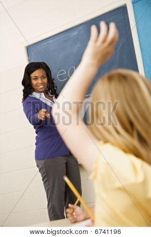 Teacher Calling On Student