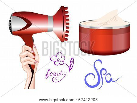 Hairdryer In Hand