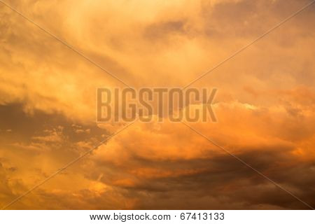 Stormy Cloudy Vibrantly Colored Sky