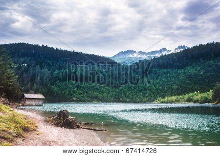 Austrian Landscape - Small Lake In The Alps