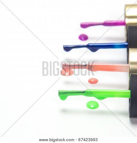 Brushes With Nail Polish