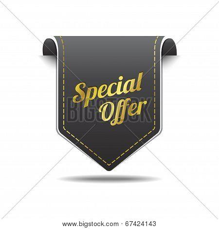 Special Offer Gold Black Label Icon Vector Design