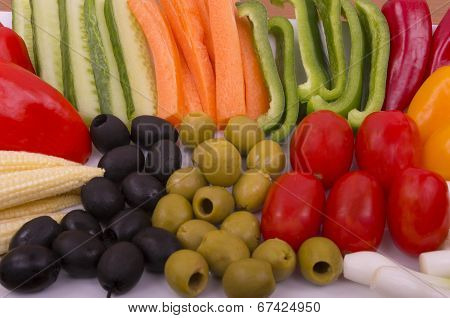 Vegetable Crudities and Olives