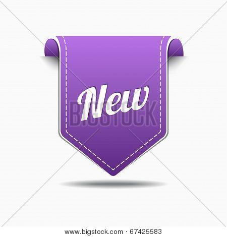 New Purple Label Icon Vector Design