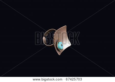 A Ring With Blue Stone