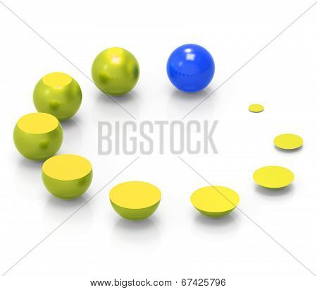 Growth Spheres Indicates Expand Develop And Improve