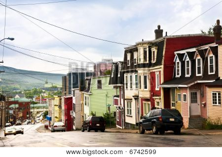 Colorful Houses In Newfoundland