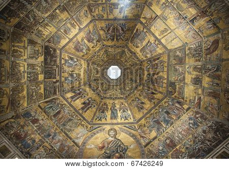 FLORENCE, ITALY - 13 JUNE, 2014: Florence Baptistery