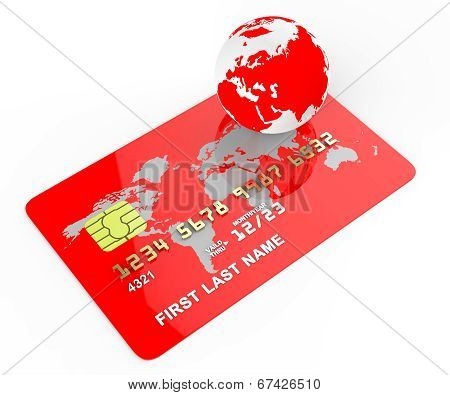 Credit Card Means Commerce Planet And Banking