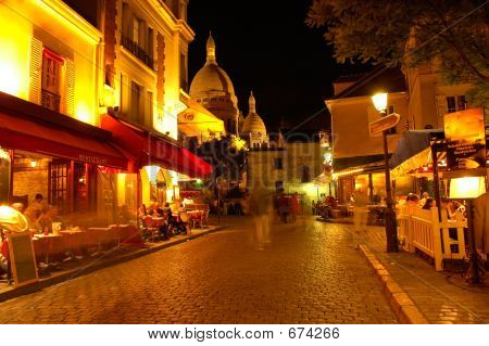 Montmartre By Night, Paris