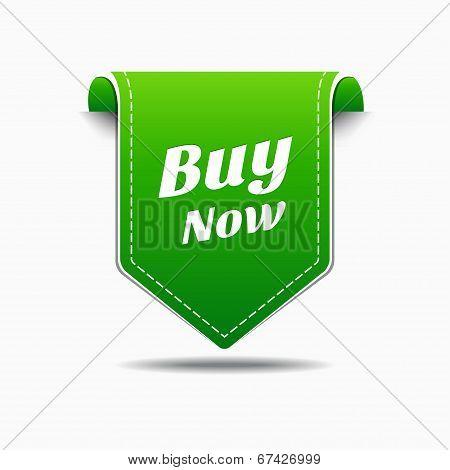 Buy Now Green Label Icon Vector Design