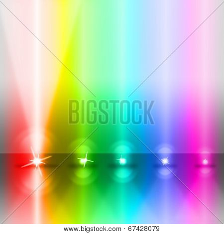 Color Stage Shows Lightsbeams Of Light And Colorful