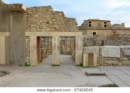 Ancient Ruins Of Knossos Palace Crete