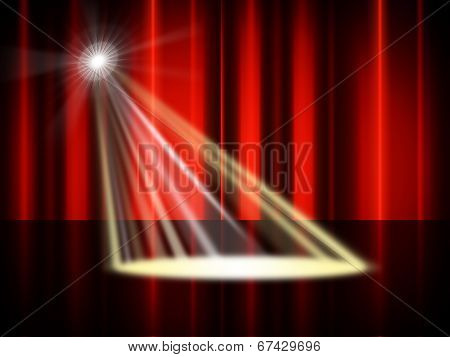 Stage Spotlight Means Live Event And Broadway