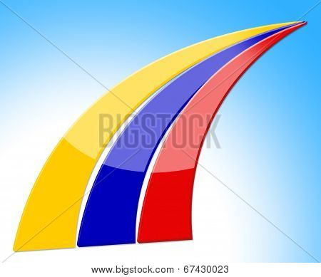 Columbia Stripes Represents National Flag And Country