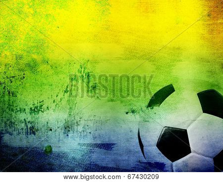 Vintage photo of soccer ball of Brazil