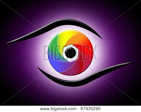 Glow Spectrum Shows Light Burst And Bright