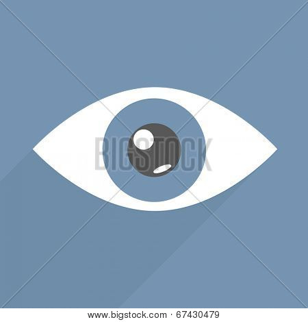 minimalistic illustration of an eye, eps10 vector