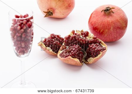 Seeds of the pomegranate, Punica granatum
