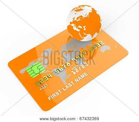 Credit Card Indicates Commerce Retail And Buyer