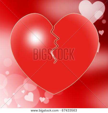 Broken Heart Represents Valentine Day And Break