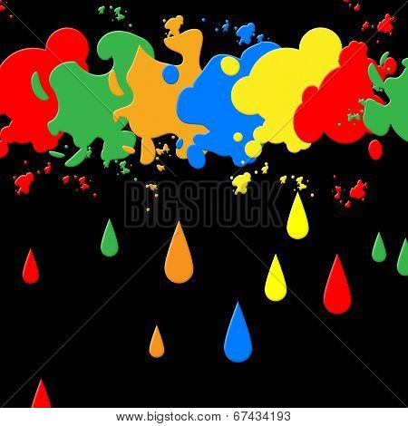 Splash Paint Represents Blots Backgrounds And Blotch
