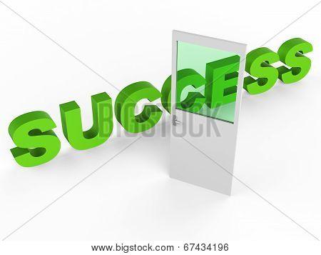 Door Success Indicates Victors 1St And Doorways