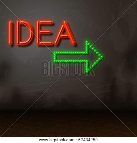 Idea Neon Shows Creative Inventions And Fluorescent