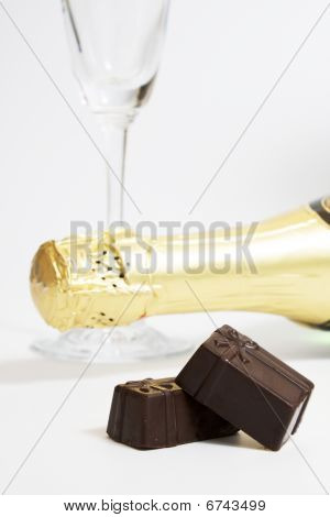 Wineglass, Champagne, Chocolate