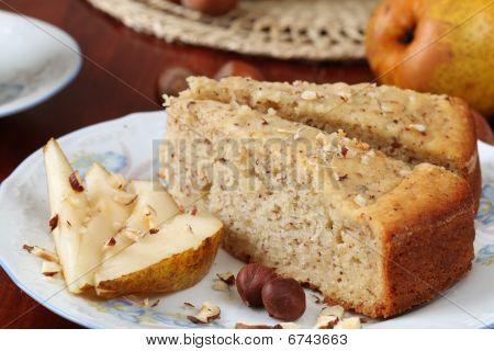 Pear And Hazelnut Cake