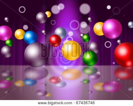 Sphere Bouncing Represents Colourful Spheres And Vibrant