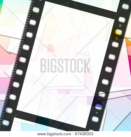 Filmstrip Paper Means Empty Space And Copy