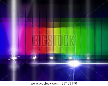 Color Glow Indicates Colorful Background And Chromatic