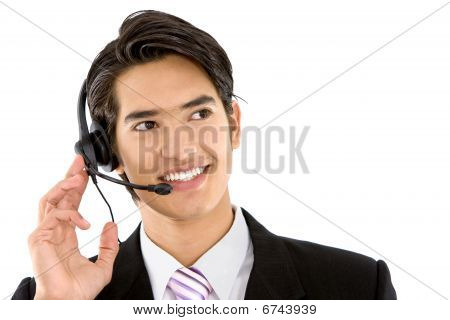 Business Man With Headset
