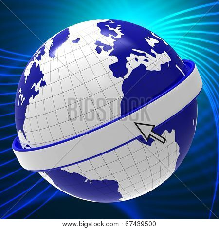 Globe World Shows Blank Space And Copy