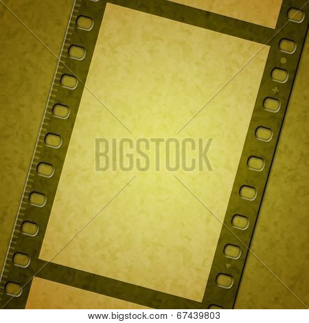 Yellow Background Indicates Camera Film And Backdrop
