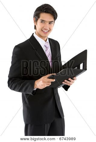 Business Man With Portfolio