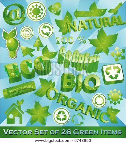 Set Of 26 Eco-friendly Items