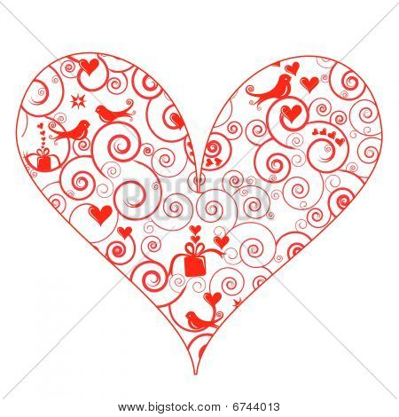 Cute Patterned Heart