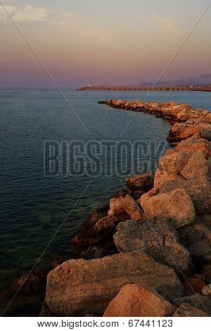 Seascape at Agios Nikolaos Crete port