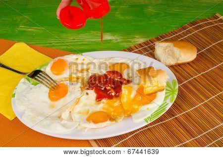 Ketchup On Eggs