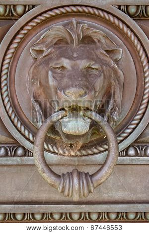 Metal Lion door knocker