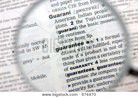 Definition Of Guarantee