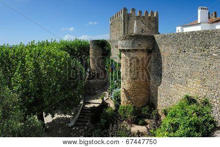 Old  Walls, Obidos, Portugal