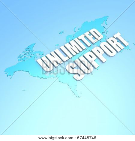 Unlimited Support World Map