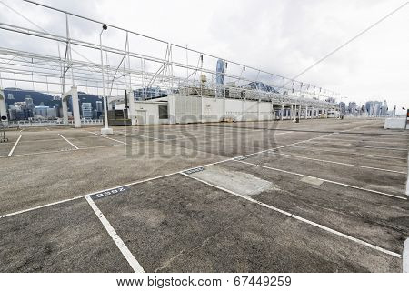 large numbered space parking lot